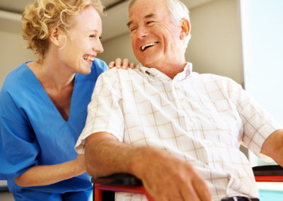 Sharing a laugh together - Senior Care